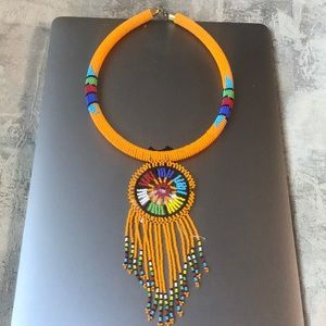 COLORFUL MAASAI BEADED NECKLACE